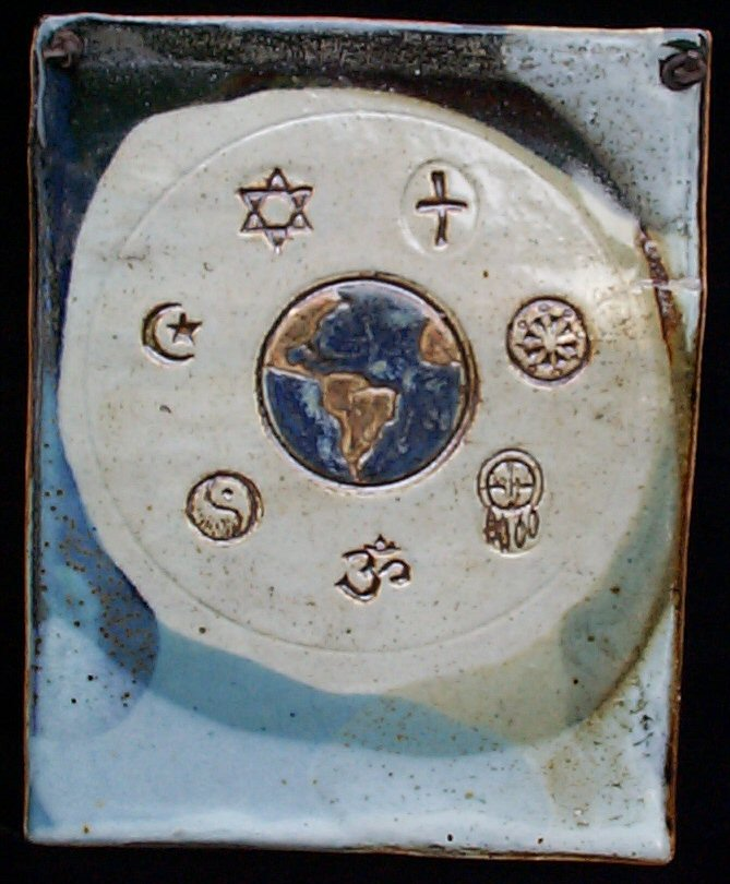 2087 World Religions Plaque 9 x 11 inches